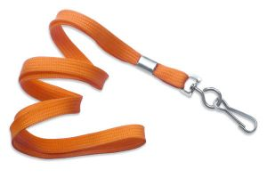"Orange 3/8"" (10mm) Non-Breakaway Lanyard w/ NPS Swivel  Hook (100/Pkg)"